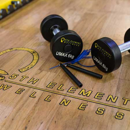 5EW Floor Skipping Rope and Dumbbells